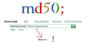 Md5 Hash Lookup Md5 Hash Marco S Webdev Notepad