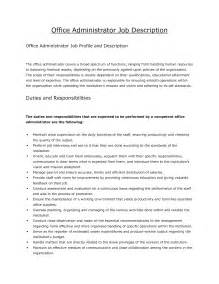 Administrative Manager Description by Office Manager Description Recentresumes