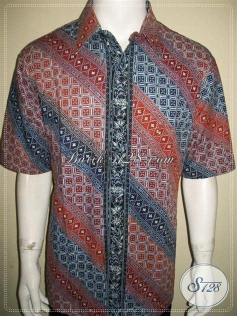 Kemeja Batik Parang Modern Gradasi Maroon batik pria corak parang warna gradasi jahitan bagus halus