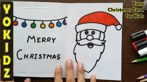 ideas on how to draw names for christmas easy card for