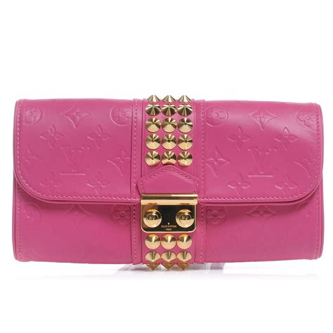 Louis Vuitton Leather Embossed With Clutch 9311 louis vuitton embossed leather pochette clutch fuchsia 50440