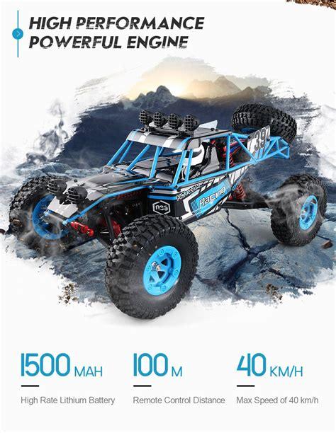 Terlaris Jjrc Q39 1 12 2 4g 4wd 40km H Highlandedr Course Truck jjrc q39 highlander truck rtr blue