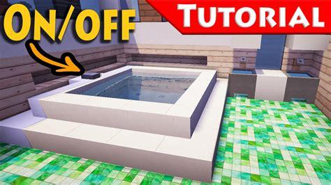 minecraft working bathroom minecraft working jacuzzi bath tub tutorial how to