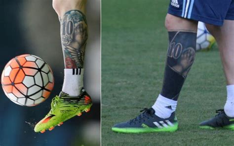 messi leg tattoo mesqueunclub gr lionel messi shows his new heavily