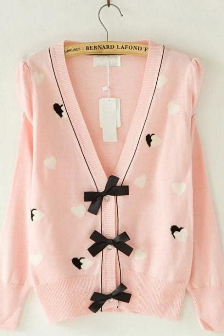 Wst 15834 Bow Sleeve Knit Sweater free ship sweet print t shirt on luulla