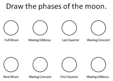 coloring pages for moon phases phases of the moon coloring sheet coloring pages phases