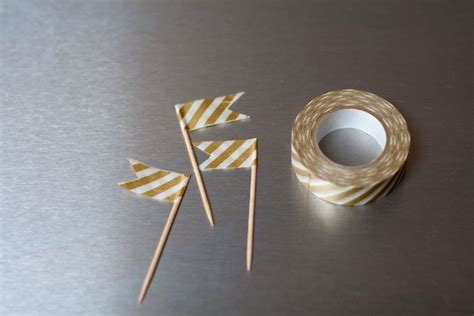 toothpick crafts for washi toothpick flags craft ideas