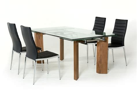 modern extendable dining table modrest helena modern extendable glass dining table