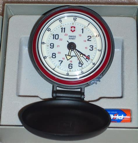 vintage swiss army by victorinox vioxx travel alarm clock never used other