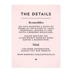 wedding invitation wording information card wedding invitation ideas