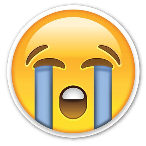 imagenes de emoticones llorando loudly crying face