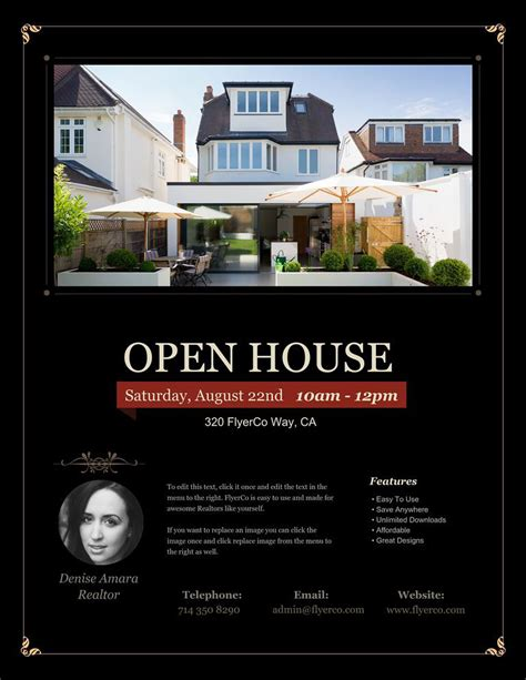real estate listing flyer template free 34 best open house flyer
