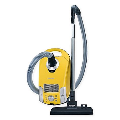 bed bath and beyond miele miele compact c1 celebration canister vacuum in yellow