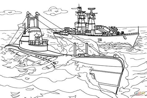 german army coloring pages submarine and warship coloring page free printable