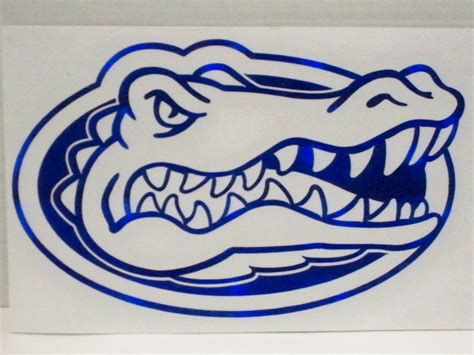 florida gators colors florida gator 6 quot x 4 quot metallic colors