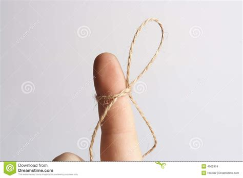 Finger String - don t forget stock images image 4962914