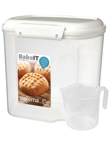 sistema bakery container  cup  sugar storage