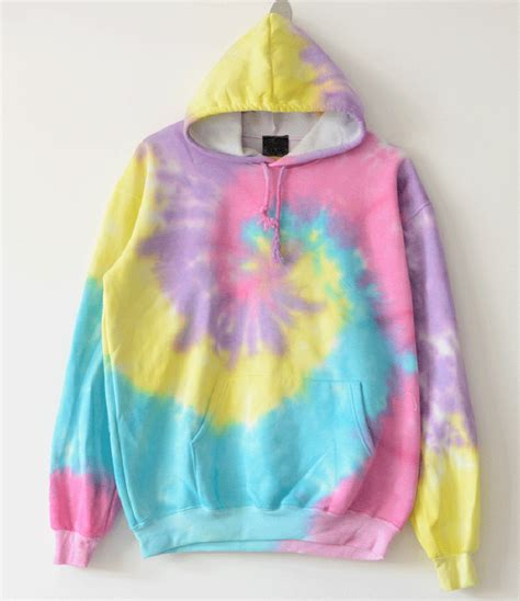 Hoodie 3d Fullprint Rainbow Import 2018 handmade tie dye hoodies gradient rainbow sweatshirts swirl hooded oversized