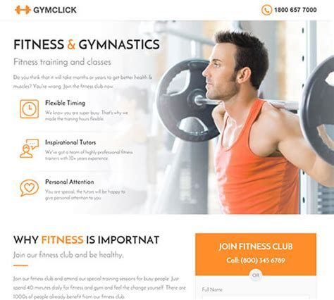 Medical Spa Yoga Fitness Landing Page Template By Surjithctly Themeforest Fitness Landing Page Templates