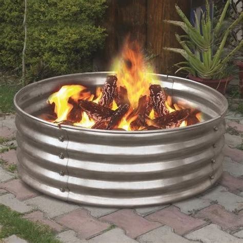 Backyard Creations Lp Pit Backyard Creations 36 Quot Galvanized Ring At Menards