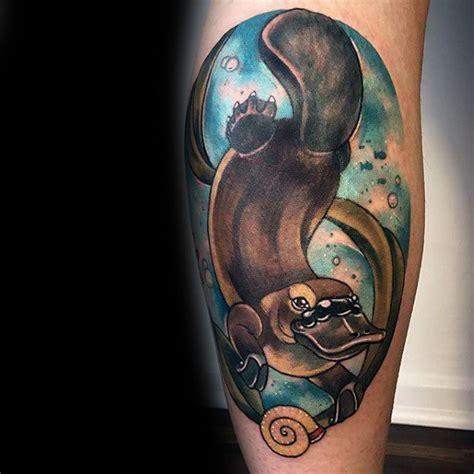 platypus tattoo 50 platypus designs for animal ink ideas