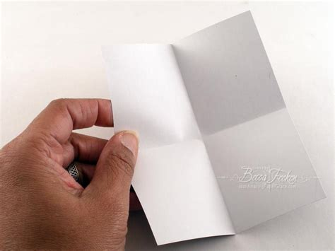 Fold Paper Into - rectangle frame made with corner punches tutorial