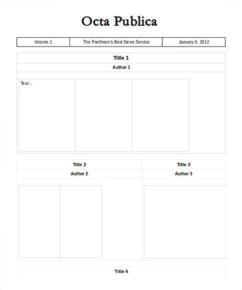 doc newspaper template newspaper templates free premium templates