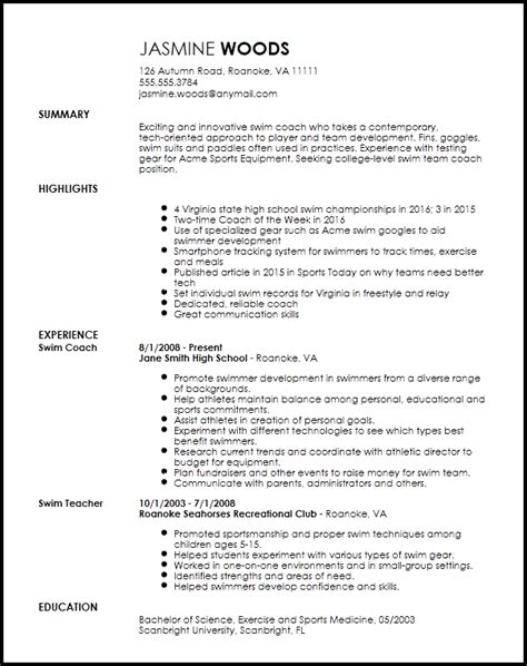 Free Contemporary Sports Coach Resume Template Resume Now Free Coaching Resume Templates