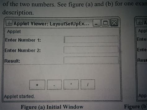 layout java applet swing java applet layout doesn t appear as it is