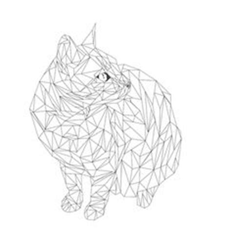 geometric cat coloring pages ball of yarn coloring page wee folk art wee folk art