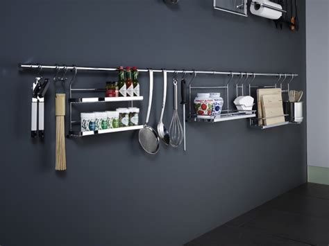 backsplash storage linero backsplash storage pot racks and accessories wilmington by clever storage by