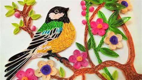 Next Wall Sticker paper art quilling wall decorations quilling bird