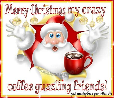 merry christmas  crazy coffee guzzling friends pictures   images  facebook