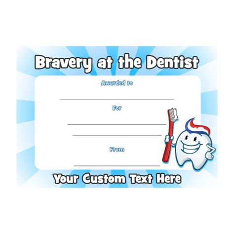 Note Book Hello Dentist i was brave at the dentist certificate