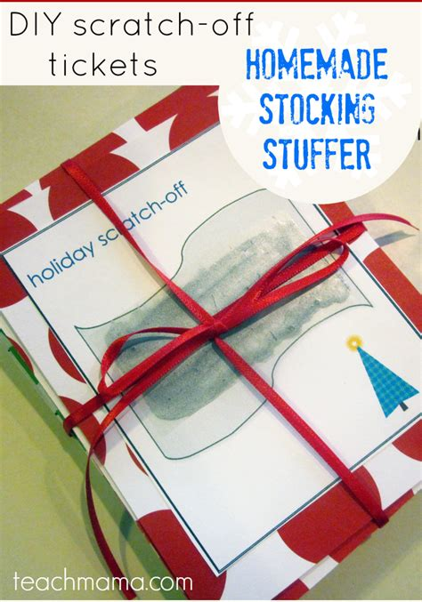 Indoor Plants homemade scratch off tickets fun stocking stuffers