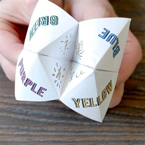 Folding Paper Fortune Teller - days how to make a folded paper