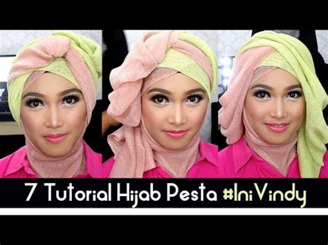 tutorial kerudung pesta youtube 7 tutorial hijab pesta dan wisuda inivindy youtube