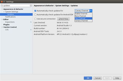 android studio tutorial vogella android studio v1 3 released to stable channel includes