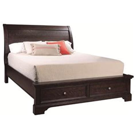 Sleigh Bed With Drawers Underneath by Aspenhome Bayfield King Sleigh Bed With Bed Storage