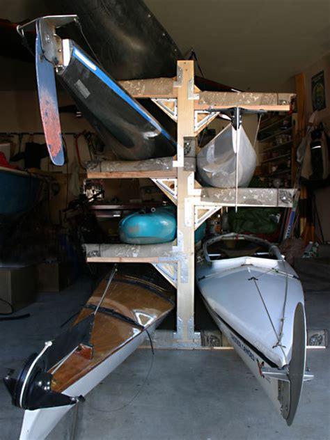 Garage Kayak Storage Rack Kayak And Canoe Storage Racks In My Boathouse Formerly