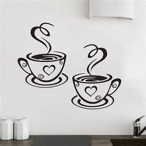 Wall Decor Dekorasi Dinding Quotes Coffee And You aliexpress buy new arrival beautiful design coffee cups cafe tea wall stickers vinyl