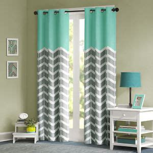 Aqua Color Curtains Designs Modern Grey Blue Aqua Teal Chevron Stripe 63 Quot 84 Quot Energy Efficient Curtain Panel Ebay