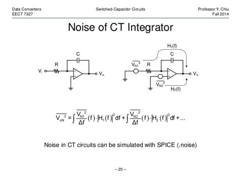 switched capacitor resistor noise switched capacitor