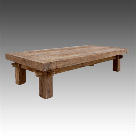 reclaimed teak quattro rustic coffee table blubambu