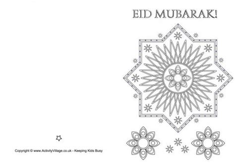 eid card template eid mubarak colouring card 460 0 hajj and eid ul adha