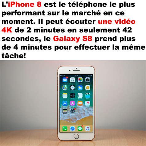 l iphone est désactivé l iphone 8 est vraiment performant geekqc ca