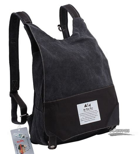 Canvas Backpack Black canvas backpack canvas daypack black rucksack e canvasbags