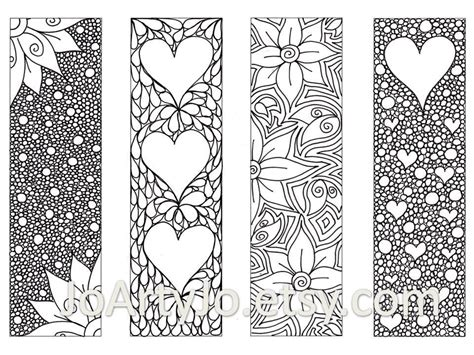 printable zentangle flowers zendoodle printable bookmarks zentangle inspired hearts