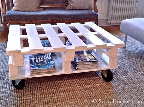 How To Make Coffee Table D I Y Pallet Coffee Table Tutorial
