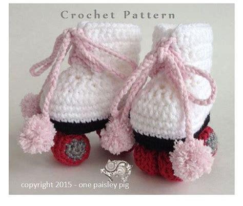 pattern for roller skate roller skate baby booties pdf crochet pattern crochet